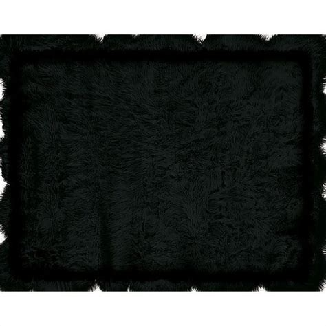 Sheepskin Area Rug Rugs Sheepskin Rectangular Area Rug In Black Rug Blaksheepxx
