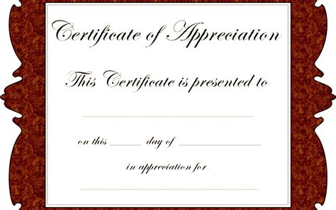free certificate of appreciation template downloads certificate of appreciation templates free