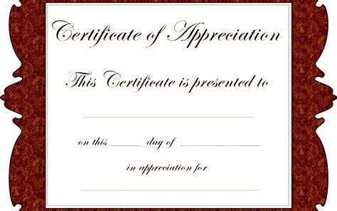 free certificate of appreciation template downloads certificate of appreciation templates free