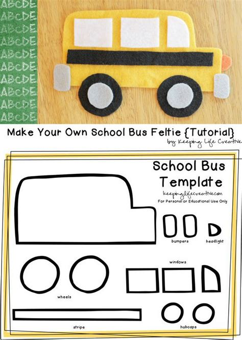 free printable school bus craft template buses for kids