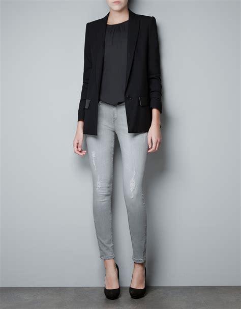 Bt7489 Black Blazer Zara zara blazer in black lyst