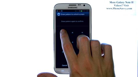 pattern unlock samsung s7262 samsung galaxy note ii how do i setup password pin