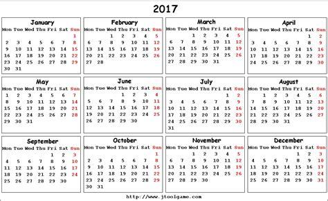printable calendar 2017 with week numbers printable calendar starting with monday calendar