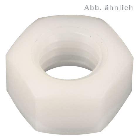 terrasse sichtschutz kunststoff 555 100 sechskantmuttern m16 sw24 polyamid din 555 2017 16