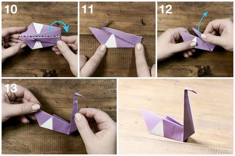 swan origami tutorial easy origami swan tutorial