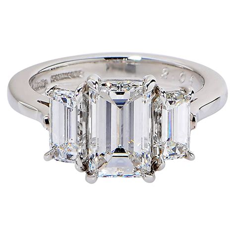 carat gia cert emerald cut diamond platinum
