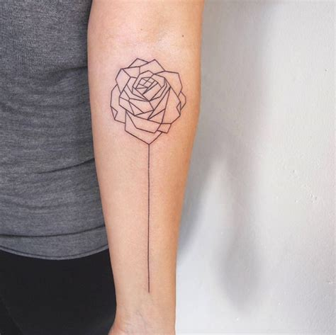 tattoo geometric rose 50 enchanting flower tattoos for fall tattooblend