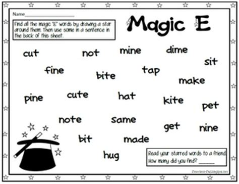 Silent E Worksheets by Magic E Worksheet This Is For Vilena Education