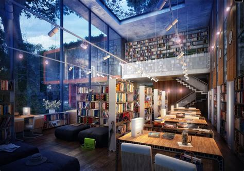 modern home library library inspiration