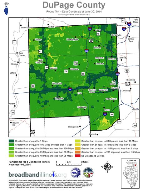 Search Dupage Dupage County Map Broadband Illinois