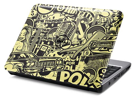 design cover laptop new design for dell inspiron mini 8 and 12 laptop