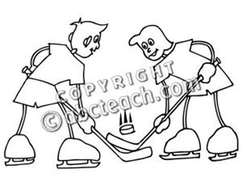 college hockey coloring pages clip art cartoon school scene sports ice hockey 02