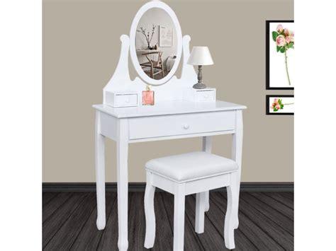 Coiffeuse A Maquillage by Coiffeuse Table De Maquillage En Bois Avec Miroir Et