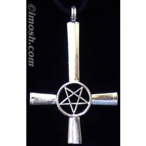 inverted cross pendant large cross necklace
