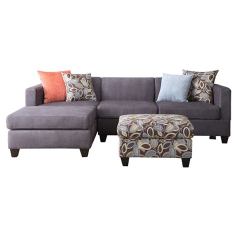 Sectional Sofa With Ottoman Liza Sectional Sofa With Ottoman Decorating Ideas Pinterest