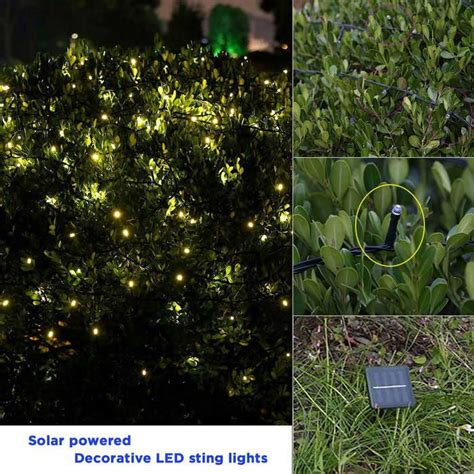 solar powered twinkle lights solar powered decorative twinkle led light string warm