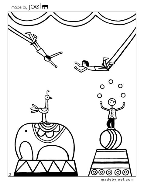 made by joel 187 new circus coloring sheets