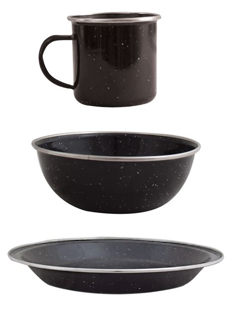 Mug Plate enamel mug plate bowl set all cing outdoor hub