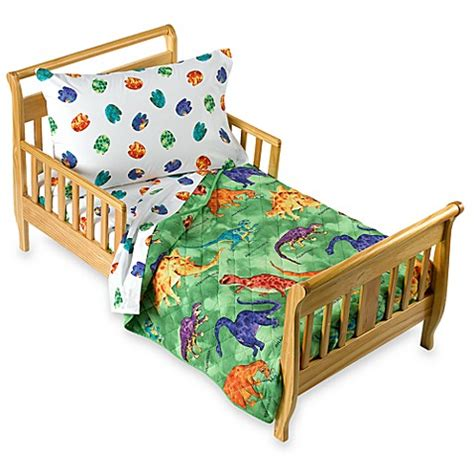 toddler dinosaur bedding crayola 174 dinosaur 4 piece toddler bedding set buybuy baby