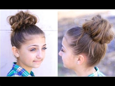 cute hairstyles in youtube messy bun 2 cute girls hairstyles youtube