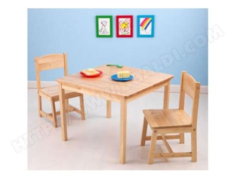 chaise table enfant ensemble table et chaise enfant kidkraft table 2 chaises