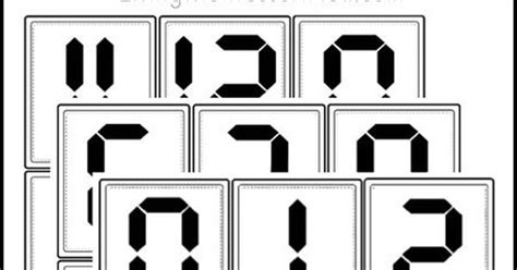 montessori clock printable free digital clock numbers printable montessori inspired