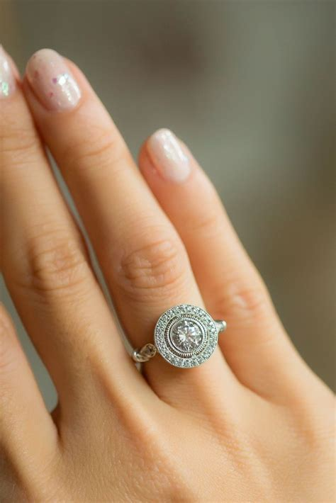 7 Engagement Rings From Since1910 by Classic Halo Ring With Crown Design Your Own