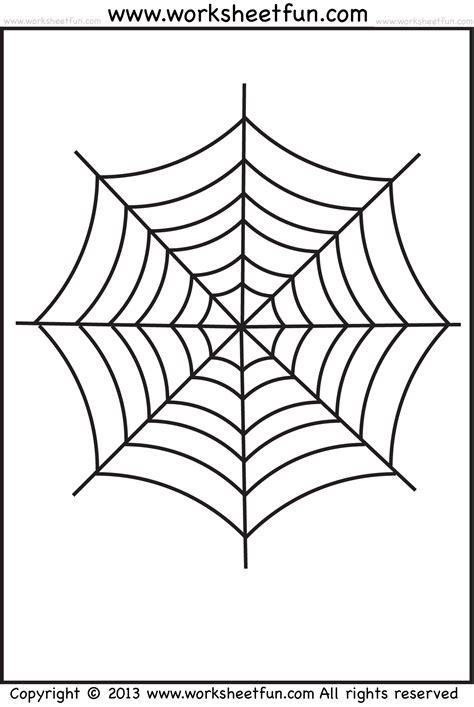 free printable spider web coloring pages for kids spider web tracing and coloring 2 halloween worksheets