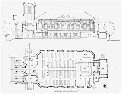 longitudinal section surveying plate 2 st mark s church kennington longitudinal