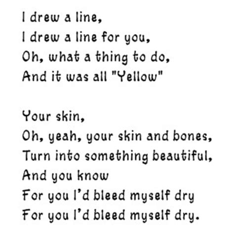 coldplay yellow lyrics coldplay yellow lyrics and everything you do chaloops