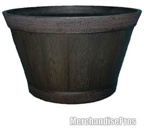 Large Whiskey Barrel Planters by Large Whiskey Barrel Resin Garden Planter 22 5 Quot X 12