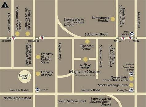 map us embassy bangkok majestic grande sukhumvit hotel location getting to