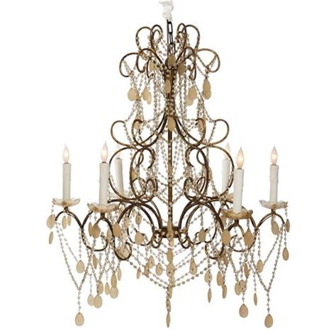 Carew Court French Style Ornate Beaded 6 Light Swag Chandelier Swag Style In Chandelier