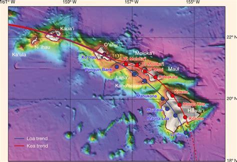 volcanoes in hawaii map geoscientists finally solve mystery of hawaiian volcanoes