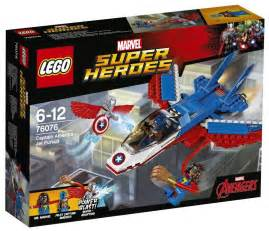 Lego Sets Lego Marvel 2017 Sets Captain America Jet Pursuit Ms