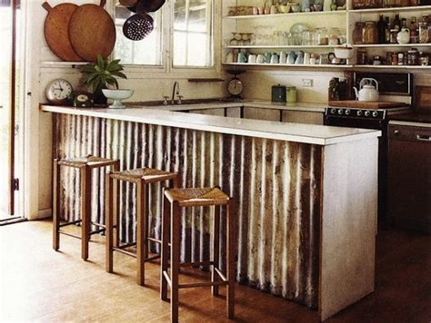 metal island kitchen corrugated metal it isn t just for old barns knick of