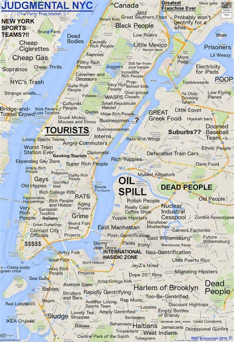 a map of nyc and there s a new judgmental map of nyc untapped cities