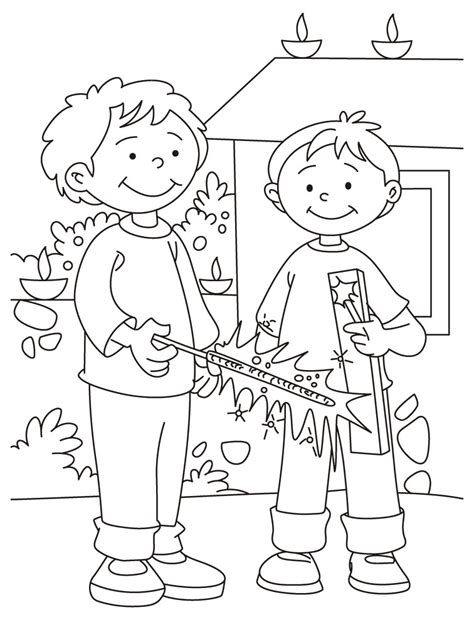 Download Free Deepavali Coloring Page For Kids Best Diwali Coloring Pages