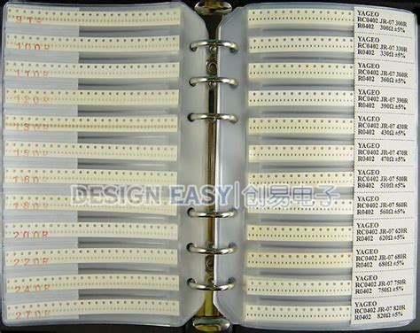 standard 0402 resistor values 0402 smd resistor sle book 170 values x 48pcs smt pack box book kit in resistors from