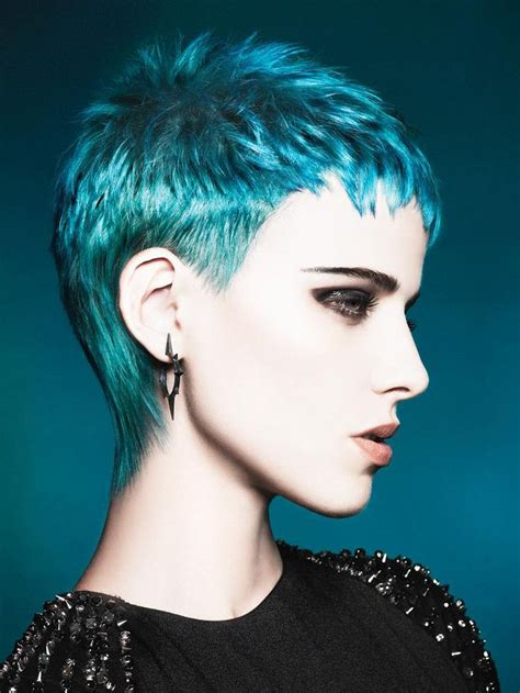 turcquoise short hair styles short pixie cut in turquoise hair styles i love