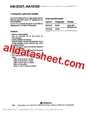 An7163 Btl 17w Audio Power Lifier ha13130 データシート pdf hitachi semiconductor