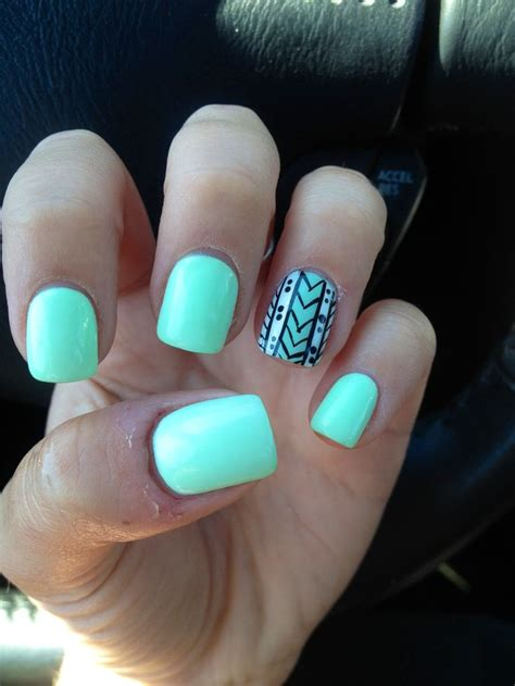 aztec pattern nail art cute nail color ideas great nail art design pinterest