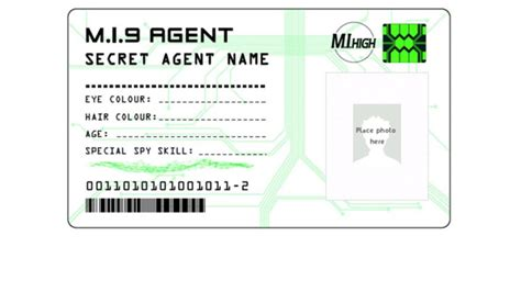 printable spy id cards the gallery for gt secret agent badge printable