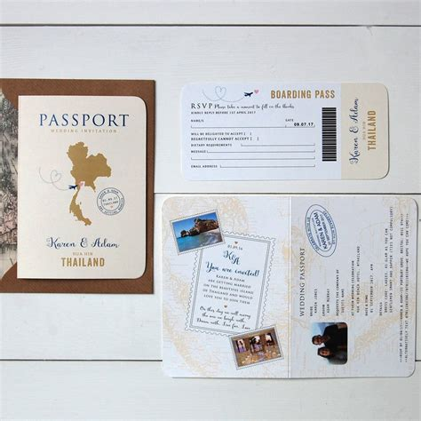 Wedding Invitation Card Passport by All About Travel Passport Wedding Invitation And Rsvp By