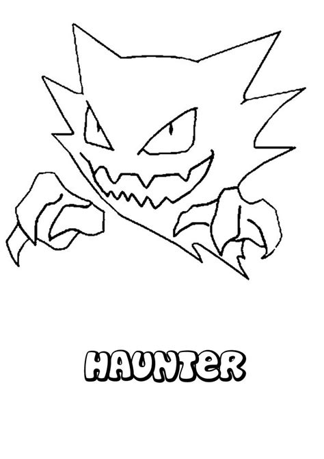 pokemon coloring pages haunter haunter coloring pages hellokids com