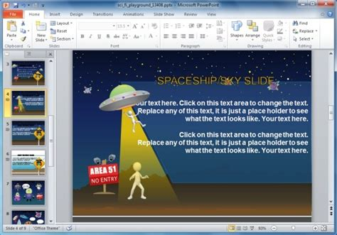 make ppt template animated sci fi powerpoint template for educational