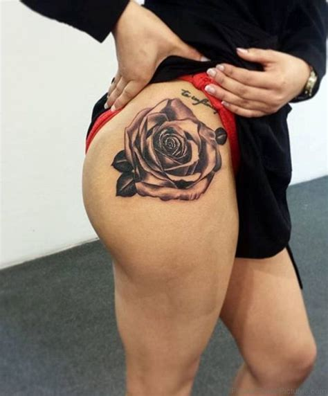 70 pretty rose tattoos on thigh