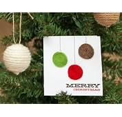 Yarn Embellished Holiday Ornament Card  HGTV