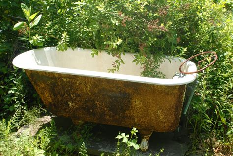 garden bathtubs recycling household items into garden art