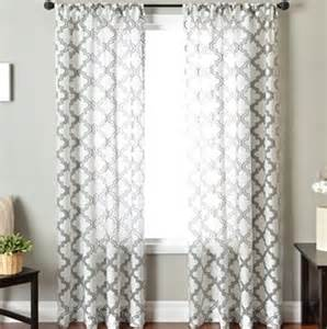 Moroccan Sheer Curtains Moroccan Tile Curtains Look 4 Less And Steals And Deals